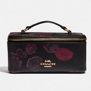 Coach Cosmetic Jewelry Vanity Case Floral